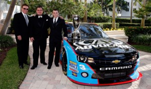 Austin Dillon was officially crowned the NASCAR Nationwide Series champion on Monday during the annual banquet in Miami. (NASCAR Photo)