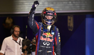 Sebastian Vettel added yet another victory to his 2013 collection Sunday in Abu Dhabi. (Steve Etherington Photo)