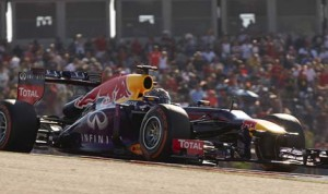 Sebastian Vettel drove to his eighth-straight Formula One triumph on Sunday at Circuit of the Americas. (Steve Etherington Photo)