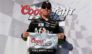 Carl Edwards won the pole for Sunday's AAA Texas 500 at Texas Motor Speedway. (NASCAR Photo)
