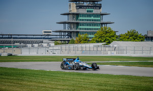 Graham Rahal tests his Indy car on the infield road course at Indianapolis Motor Speedway. IndyCar teams will be allowed 18 tests next year. (IndyCar photo)