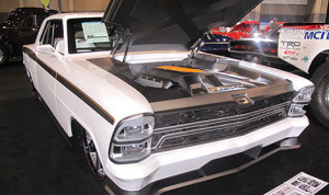 "No one who attended the auction could pass the 1967 Chevy Nova ""Innovator"" without stopping to take a look. (Photo: Michael Pomeroy, NSSN)"