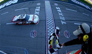 Brad Keselowski scored his sixth victory of the 2013 in the NASCAR Nationwide Series today at Texas Motor Speedway (HHP/Alan Marler Photo)