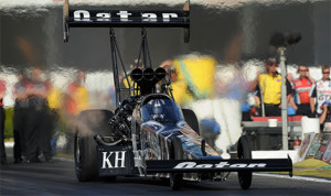 Langdon, a Southern California native, earned the title in front of a large contingent of family and friends at Auto Club Raceway at Pomona by qualifying second in the 16-car Top Fuel field. (NHRA Photo)