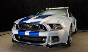 "The ""Need for Speed"" Mustang was created solely for the movie and features a custom-designed wide body created specifically for this new role. (Photo; Ford)"