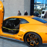 A Chevrolet Camaro with doors from a Lamborghini? Only a SEMA. (Ralph Sheheen Photo)