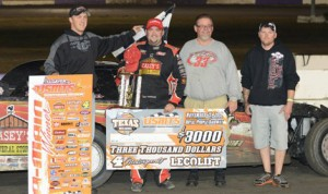 Zach VanderBeek ended a 175-race winless drought in United States Modified Touring Series competition on Friday at Royal Purple Raceway. (Manvel Motorsports Photo)
