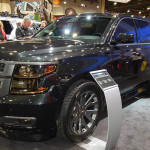 Chevy revealed its 2015 Tahoe Black at the 2013 SEMA Show held at the Las Vegas Convention Center. (Ralph Sheheen Photo)