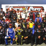 The 2013 Snowball Derby drivers pose for a photo before Sunday's race at Five Flags Speedway. (Chris Owens Photo)