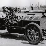 Charles Bigelow during the 1911 Indy 500 On May 30, 1911. (IMS Photo)