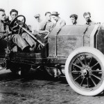 David Bruce during the 1911 Indy 500 On May 30, 1911. (IMS Photo)