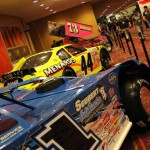 Josh Richard's No. 1 World of Outlaws late model and Frank Kimmel's ARCA Racing Series car seen at the 2013 PRI show in Indianapolis. (Photo: Adam Fenwick)