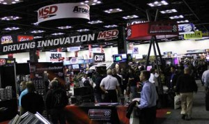 Attendees check out the latest wares during the opening day of the PRI Trade Show at the Indiana Convention Center. (Adam Fenwick photo)