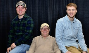 National Sprint Car Hall of Famer  Bobby, his grandson, Logan Schuchart, and his son, Jacob Allen.