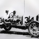 Teddy Tetzlaff during the 1911 Indy 500 On May 30, 1911. (IMS Photo)