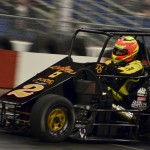 Lou Cicconi Jr. wheels Tony Stewart's munchkin midget during Friday's action at the Rumble in Fort Wayne at the Memorial Coliseum Expo Center in Fort Wayne, Ind. (Chris Seelman Photo)