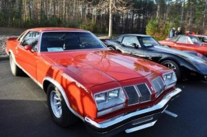 Dale Earnhardt Jr.'s 1977 Oldsmobile Cutlass 442 was one of several cars on display during the AmeriCarna LIVE charity car show on Saturday in Davidson, N.C.