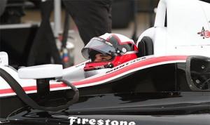 Juan Pablo Montoya in a Team Penske IndyCar. (indyCar Photo)