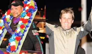 Cameron Rowe (left) and Mark Castiglia (right) will join forces as teammates in the Small Block Super division at Oswego Speedway in 2014.