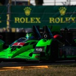 The No. 1 Extreme Speed Motorsports HPD ARX-03b early Saturday during the Rolex 24 at Daytona Int'l Speedway. (Chris Trotman/Getty Images Photo)