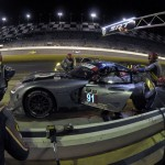 The No. 91 Dodge SRT Viper makes a pit stop during the evening portion of the Rolex 24 at Daytona Int'l Speedway. (Paul Webb/LAT Photo)