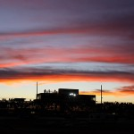 The sun goes down over Tucson (Ariz.) Int'l Raceway on Sunday night. (Mike Ruefer Photo)