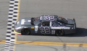 Clay Rogers on track in a Wes Gonder Racing Ford during the recent ARCA test at Daytona Int'l Speedway. (WGR Photo)