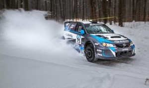 David Higgins and Craig Drew co-drove to victory in the Sno*Drift Rally. (Alex Haugen photo)