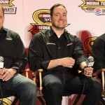 Richard Childress Racing drivers Ryan Newman, Paul Menard and Austin Dillon during the NASCAR Sprint Media Tour. (Adam Fenwick Photo)