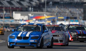 Shelby Blackstock and Ashley Freiberg, who shared the No. 48 BMW for Fall-Line Motorsports, were declared the overall winners of Friday's Continental Tire SportsCar Challenge event at Daytona Int'l Speedway after the original winning car was disqualified. (Ted Rossino Jr. Photo)