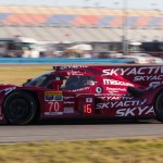 The No. 70 Mazda Prototype on track during the first day of the Rolex 24 at Daytona Int'l Speedway. (Ted Rossino Jr. Photo)