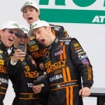 The Wayne Taylor Racing team poses for a photo after winning the Patron North American Endurance Cup portion of the Rolex 24. (Ted Rossino Jr. Photo)