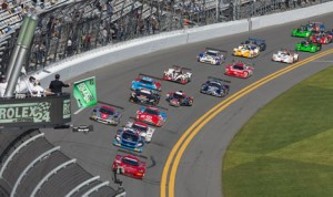The start of the 2014 Rolex 24. (Ted Rossino Jr. Photo)