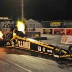 Tony Schumacher's Top Fuel Dragster during the Pro Winter Warm-Up at Palm Beach Int'l Raceway in Jupiter, Fla., this week. (Rhonda Hogue McCole Photo)