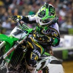 Ryan Villopoto en route to his first Monster Energy AMA Supercross victory of the season Saturday at Chase Field in Phoenix. (Kawasaki photo)