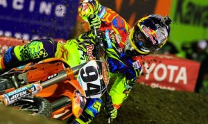 Ken Roczen performance during the 2014 Monster Energy AMA Supercross season has earned him the AMA Supercross Rookie of the Year Award in the 450 class. (Feld Motor Sports photo)