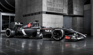 The 2014 Sauber 2014 C33-Ferrari powered Formula One race car. (Photo: Sauber)