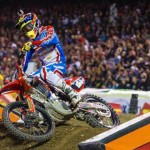 Cole Seely claimed the third event of the Monster Energy AMA Supercross Western Region 250SX season at Angel Stadium. (Feld Motor Sports photo)