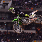 Ryan Villopoto soars to victory at O.co Coliseum in Oakland, Calif., earlier this year. (Simon Cudby photo)
