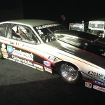 The Darrell Gwynn Foundation benefitted from the auction of a 1987 Oldsmobile Firenza, Warren Johnson's NHRA Pro Stock Racecar. (Photo: Ralph Sheheen, NSSN)