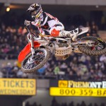 Will Hahn during Saturday's Monster Energy Supercross round at O.co Coliseum in Oakland. (GEICO photo)