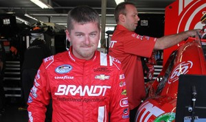 Justin Allgaier will join former Sprint Cup champion Bobby Labonte at Phoenix Racing in 2014. (HHP/Christa L Thomas)