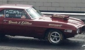 Peter Biondo in his family's bracket racing Firebird. (Biondo Family photo)