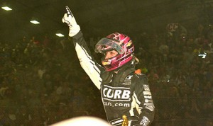 Bryan Clauson, seen here after his recent win at the 2014 Chili Bowl, won his second consecutive USAC National Sprint Car championship in 2013. (Photo: Ginny Heithaus)
