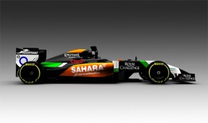 A view of what the VJM07 Formula One car will look when it is officially presented at next week's Jerez test session. (Force India Photo)