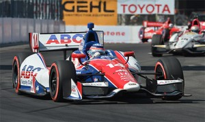 Takuma Sato, on his way to winning the 2013 Toyota Grand Prix of Long Beach. (IndyCar Photo:
