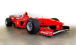 This Ferrari F300s, chassis number 183 was driven 38 times by Michael Schumacher. (Barrett-Jackson Photo)