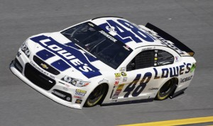 Jimmie Johnson's No. 48 Chevrolet SS that he will race in the 2014 Daytona 500. (HHP/Harold Hinson Photo)