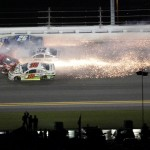 A five-car crash involving Ryan Newman and several others brought out a late caution flag in Sunday's Daytona 500. (HHP/Tom Copeland Photo)