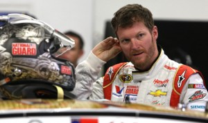 Dale Earnhardt Jr. is hoping to reclaim his past glory on restrictor plate tracks during Sunday's Daytona 500. (HHP/Christa L. Thomas Photo)